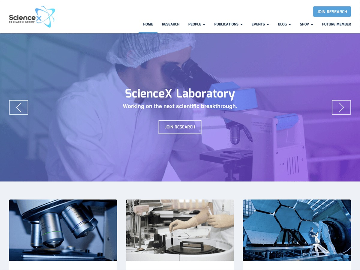 Sciencex Lite best WooCommerce theme
