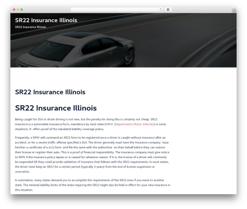 Sydney free WordPress theme - sr22insuranceillinois.net