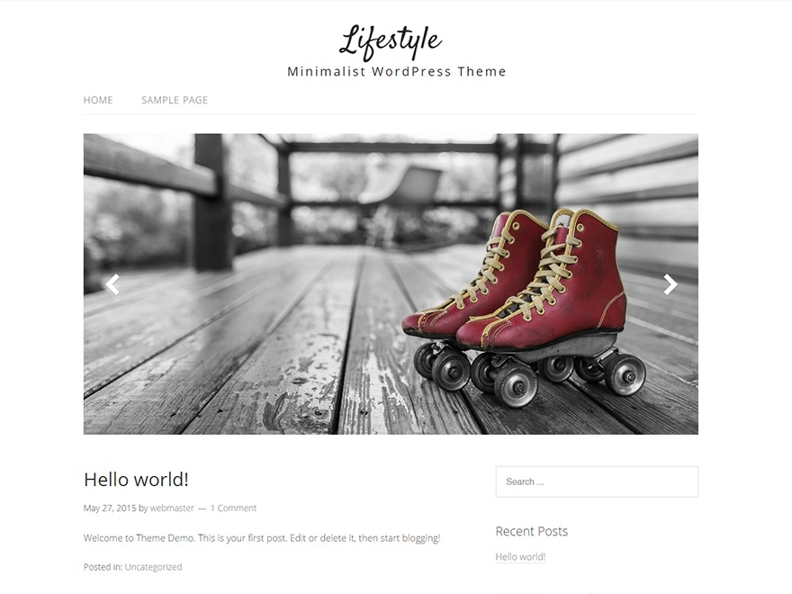Template WordPress Headstands and Heels - Lifestyle