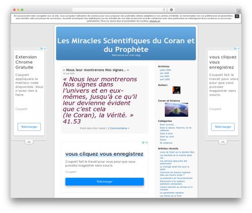 Thème par défaut WordPress blog theme - coranmiracles.unblog.fr