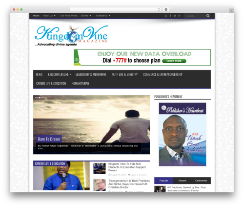 WordPress theme Jarida | Shared By Themes24x7.com - kingdomvine.org