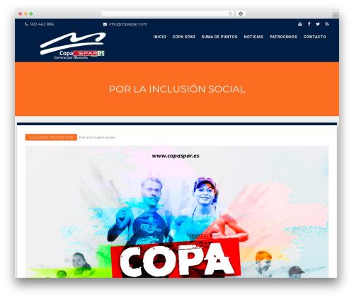 WordPress theme The WP Fitness - copaspar.es