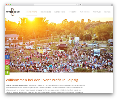 WordPress theme Veda - bb-eventteam.de