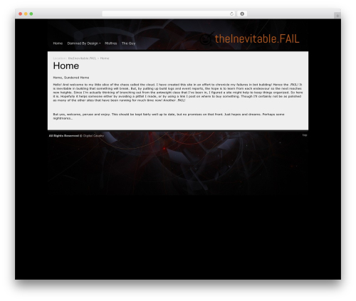Andromeda WordPress page template - theinevitable.fail