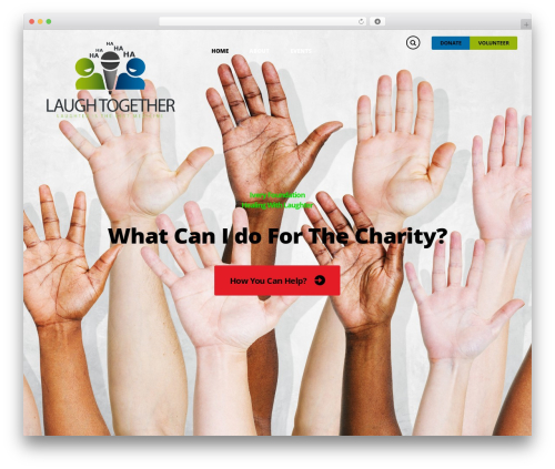 Charity Is Hope WordPress website template - laughtogether.org