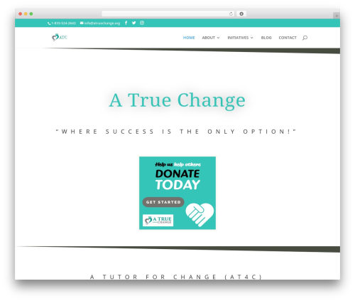 Divi theme WordPress - atruechange.org