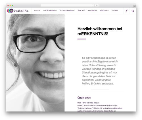 Pixie WordPress theme - merkenntnis.de