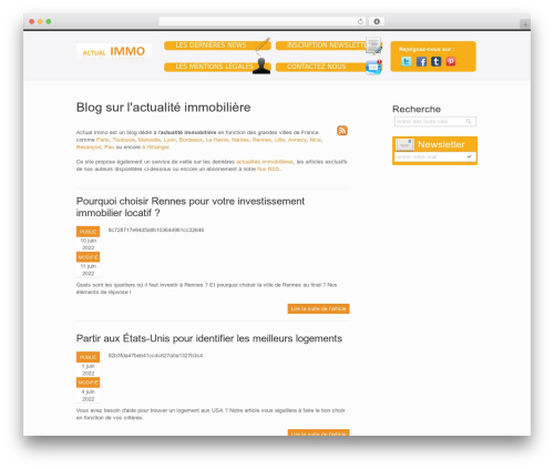 Qreator WordPress blog template - actual-immo.fr