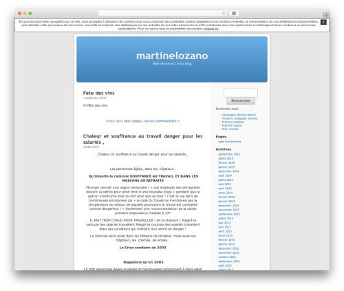 Thème par défaut WordPress blog theme - martinelozano.unblog.fr