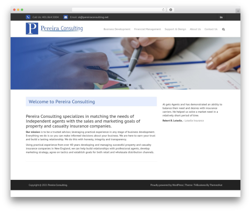 THBusiness free website theme - pereiraconsulting.net