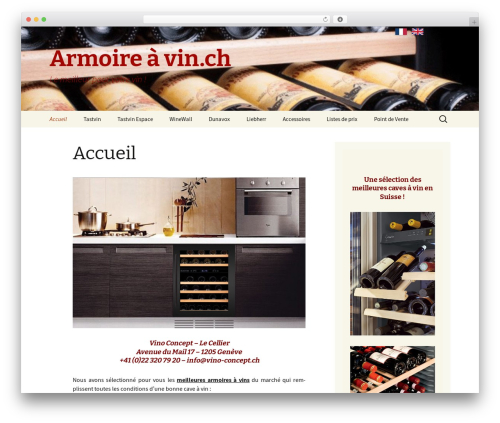 Twenty Thirteen theme WordPress free - armoire-a-vin.ch