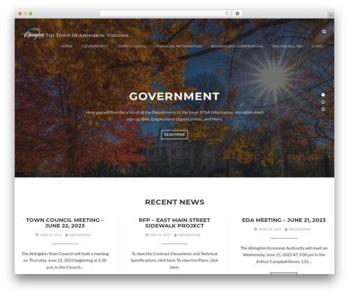 WordPress website template Appetite - abingdon-va.gov