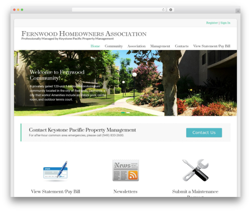 WordPress website template Spacious Pro - fernwoodhoa.net