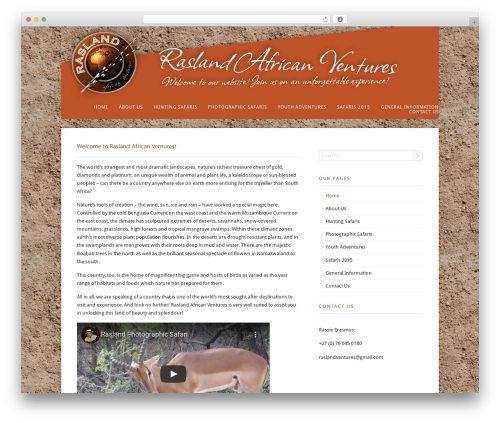 Acoustic top WordPress theme - raslandafricanventures.co.za