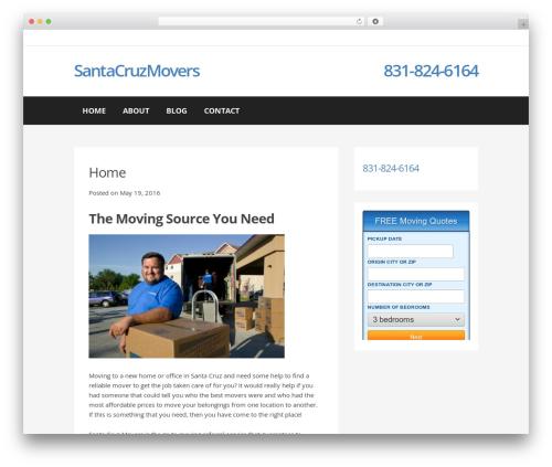 Buso Lightning company WordPress theme - santacruzmovers.net