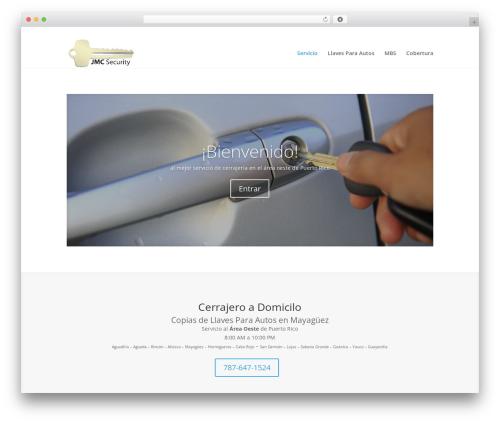 Divi WordPress template - jmcsecurity.net