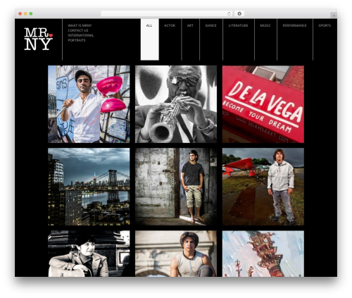 FULLSCREEN theme WordPress - mrny.net
