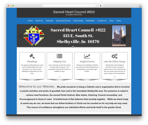 isis best free WordPress theme - sacredheartcouncil822.org