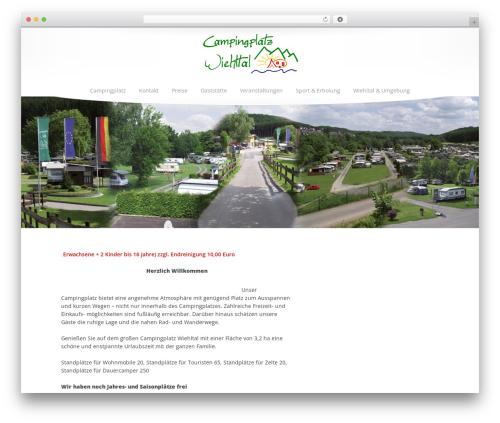 Princess WordPress theme - campingplatz-wiehltal.de