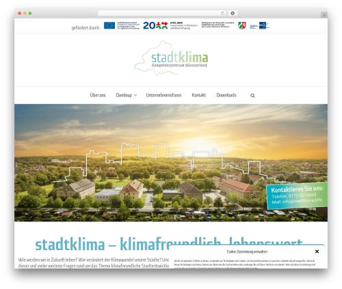 Pristine best WordPress theme - stadtklima.info