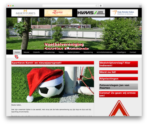 Redesign Sportlinkclubsites premium WordPress theme - sportingkrommenie.nl