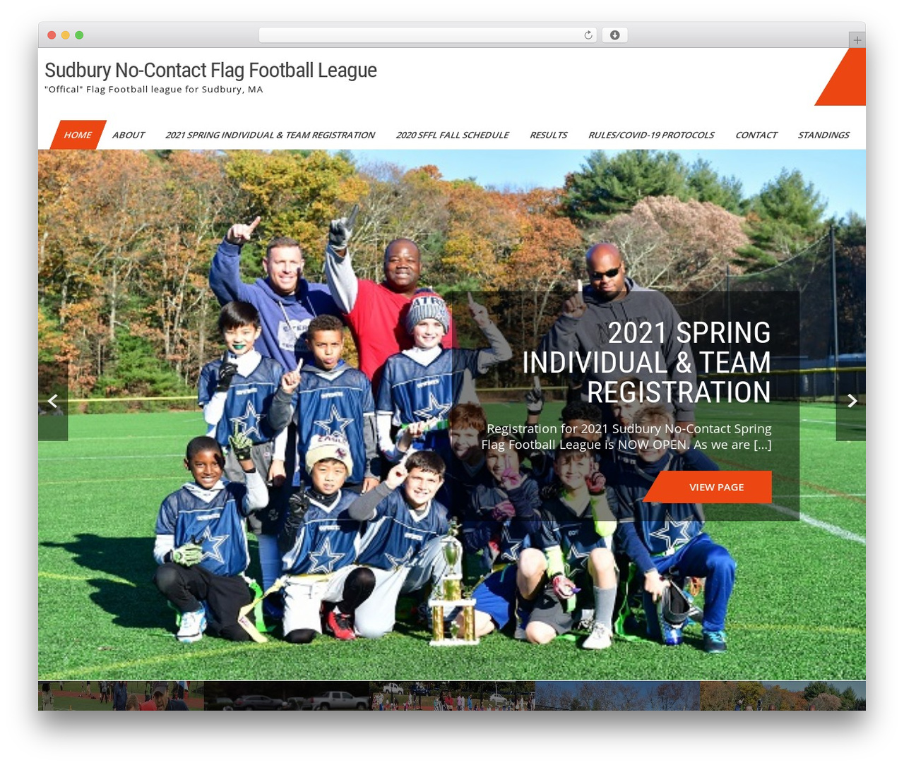 Sports Club Lite theme WordPress - sudburyflagfootball.com
