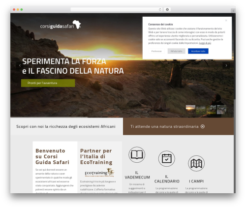 Template WordPress Betheme - corsiguidasafari.it