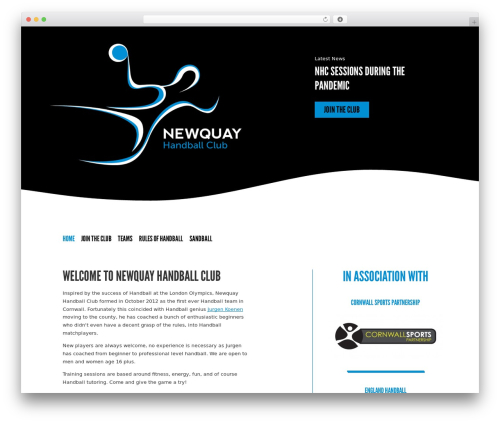 The HTML5 Reset Theme premium WordPress theme - newquayhandballclub.co.uk