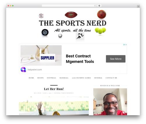 WordPress website template 30 Day Blog Challenge - thesportsnerd.net