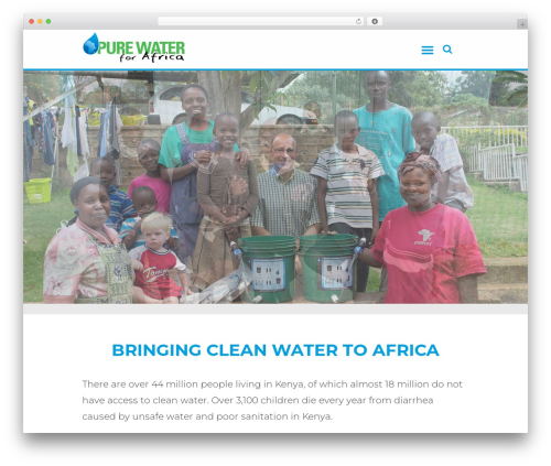 WordPress website template Grace-church - purewaterforafrica.org