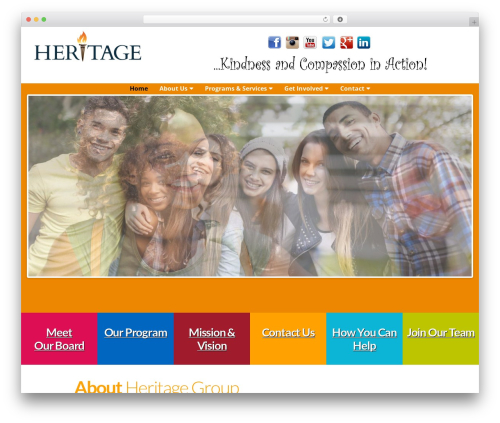 Altra Blueprint WordPress page template - heritagehomes.org