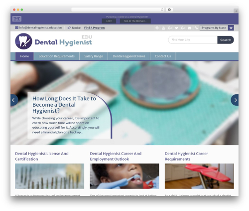 Education Hub best WordPress theme - dentalhygienist.education