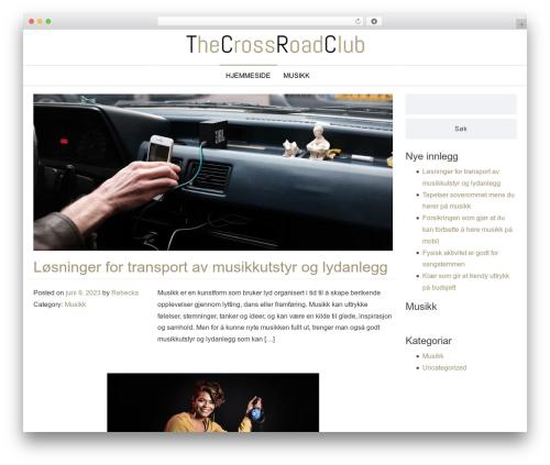 Envo Store theme WordPress - thecrossroadclub.no