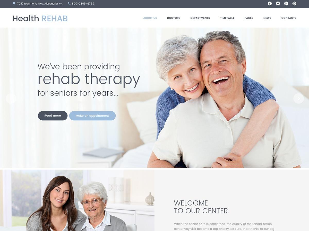 HealthRehub medical WordPress theme
