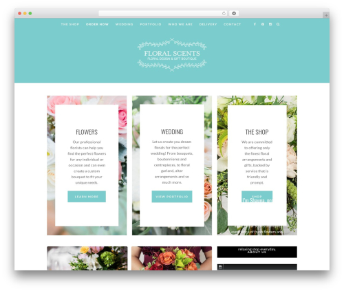 LaMadone WordPress ecommerce template - floralscents.ca