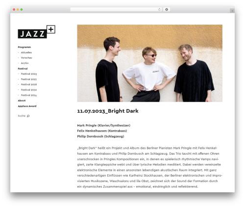 Moka WordPress theme - jazz-plus.de