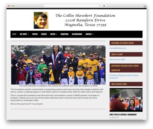 Morning Monday Lite WordPress page template - collinshewbertfoundation.org