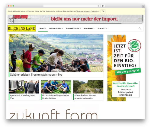 Newspeak WordPress news theme - blickinsland.at