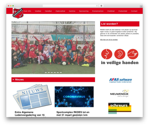 Redesign Sportlinkclubsites top WordPress theme - rkdes.nl