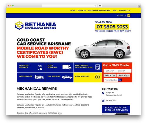 Template WordPress autorepair - bethaniamechanical.com.au