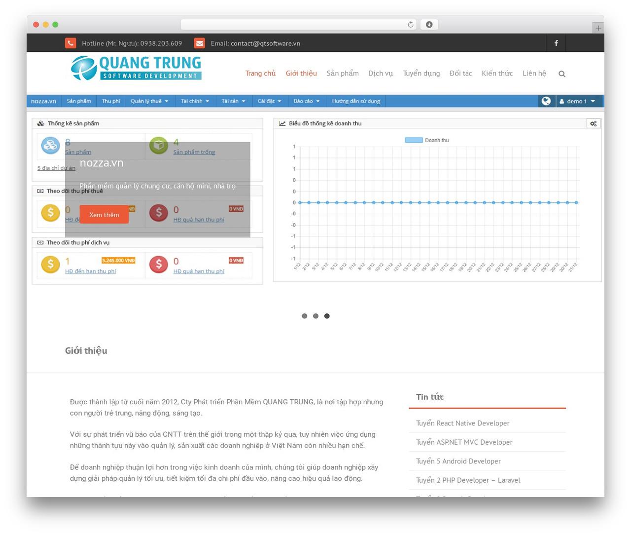 THBusiness Pro business WordPress theme - qtsoftware.vn