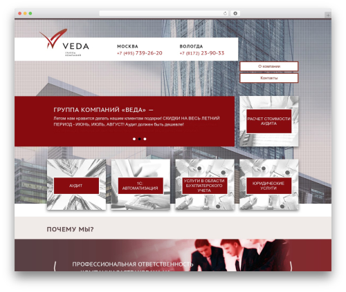 WP theme Veda - veda-audit.ru