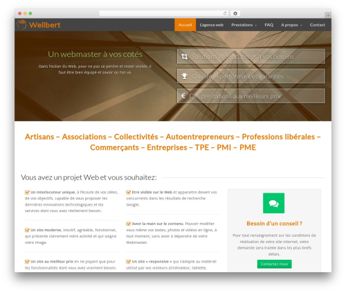 Artificial Reason WordPress template - wellbert.fr