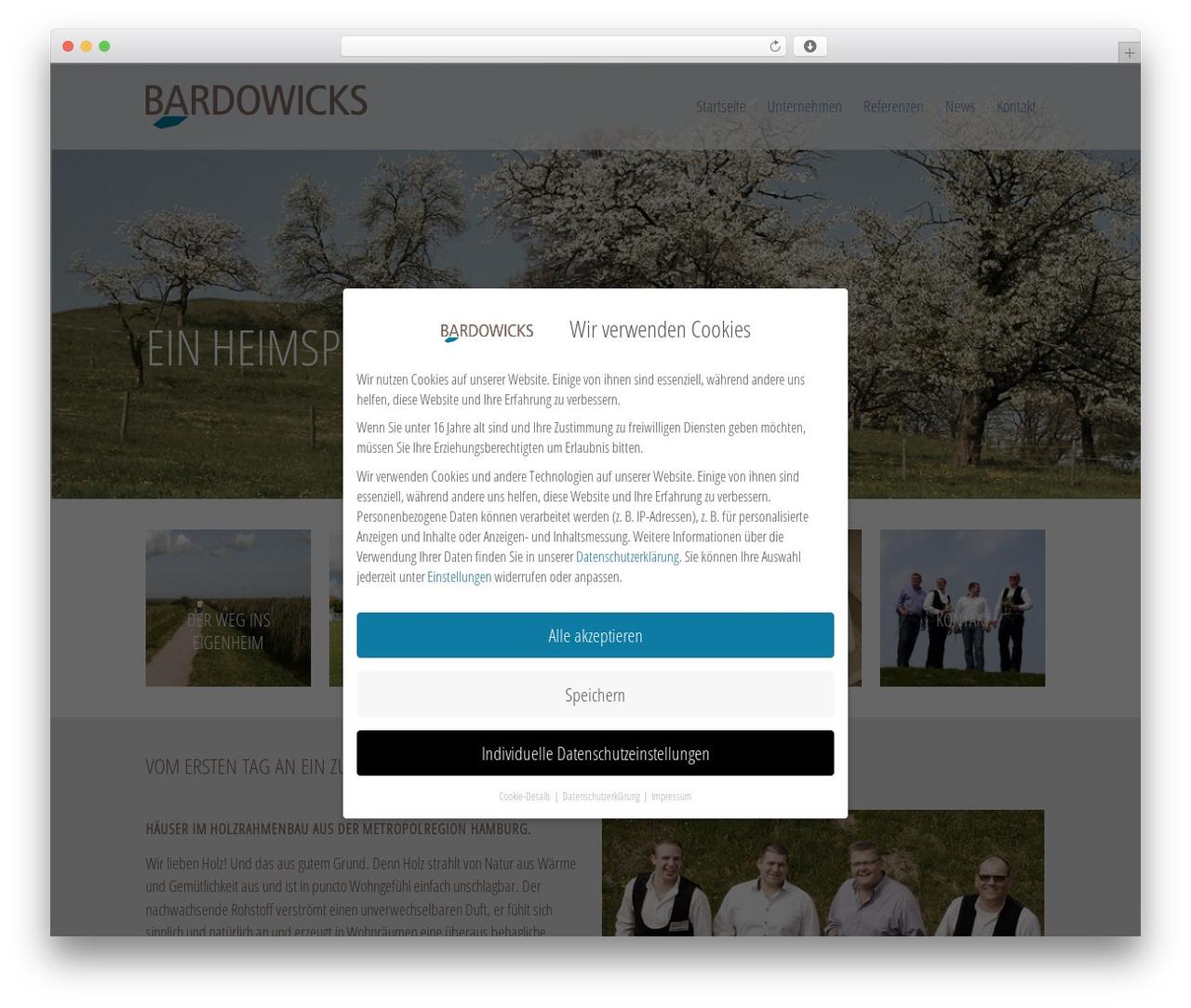 Bardowicks best WordPress theme - bardowicks-holzbau.de