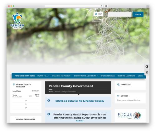 Best WordPress theme TownPress - pendercountync.gov