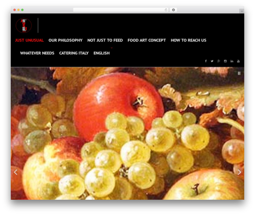 cherry food WordPress theme - justunusual.org