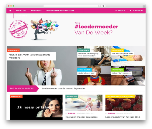 Codilight WordPress theme - loedermoeder.nl
