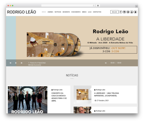 Hugo WordPress theme - rodrigoleao.pt