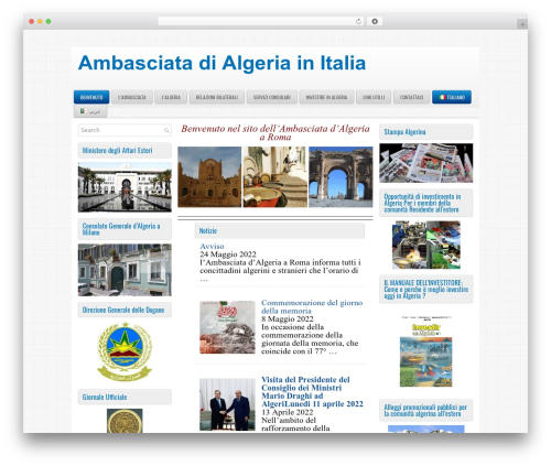 ProMag WordPress template - algerianembassy.it