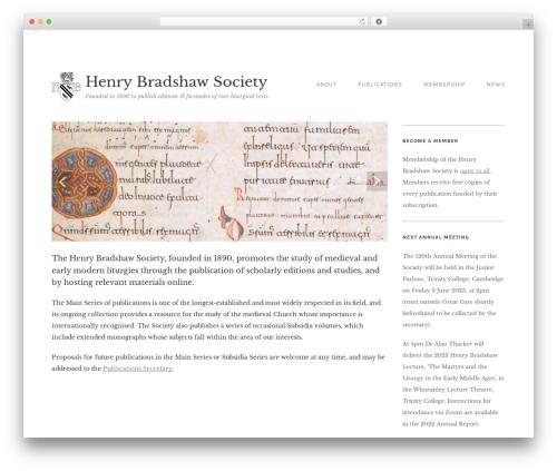Qua theme WordPress - henrybradshawsociety.org